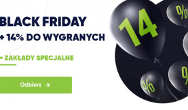 Bonus 14% w forBET w Black Friday w godz 6:00-12:00